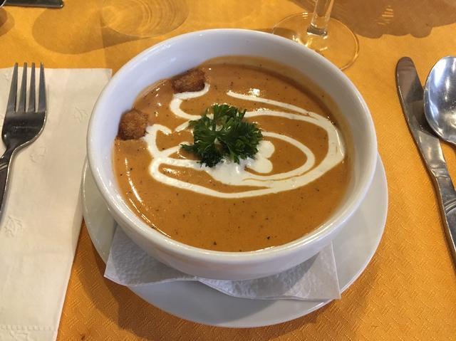 画像: 前菜はかぼちゃのスープ♪レストラン「マジェスティック」のお食事(イメージ) 2日目ディナー