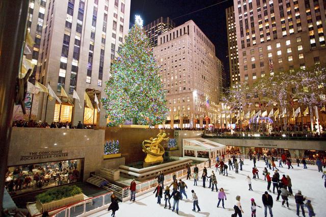 画像: クリスマスのロックフェラーセンター(イメージ)【ニューヨーク観光局】