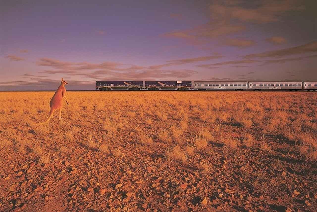 画像: オーストラリア大陸横断鉄道インディアンパシフィック号
