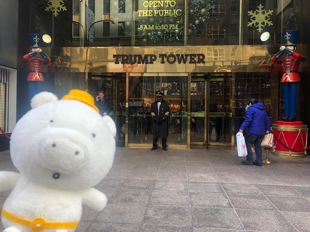 画像: 噂のトランプタワーときーぶー(イメージ) 入口ではセキュリティーチェックがあり、中にはレストランやお土産物屋がありました!