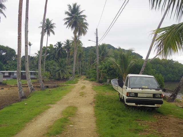 画像: 夏島に残る日本統治時代の道路