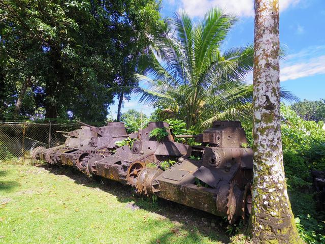 画像: アメリカ本土上陸に備えて配備された戦車