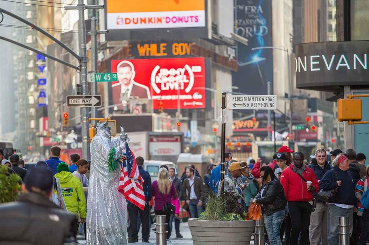 画像: ニューヨーク・タイムズスクエアの風景(イメージ)