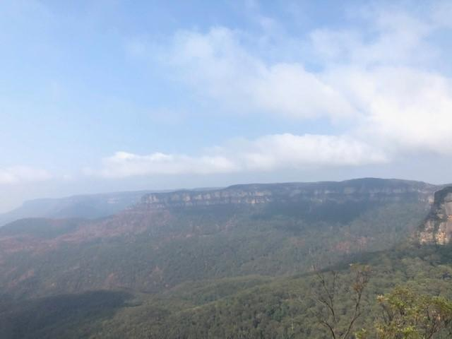 画像: 世界遺産ブルーマウンテンズ国立公園(2020/01/03 添乗員撮影)