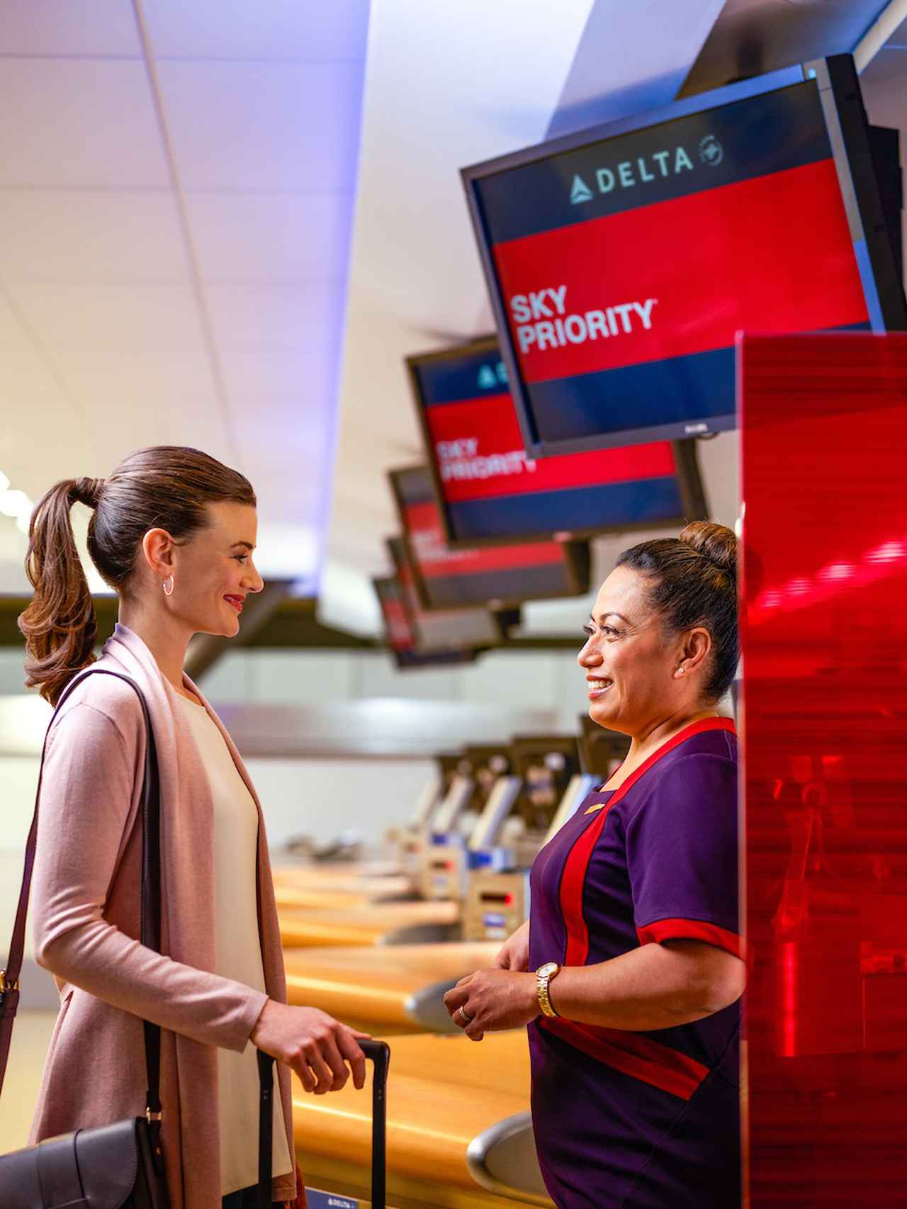 画像: デルタ・プレミアムセレクト チェックイン/デルタ航空提供(イメージ)