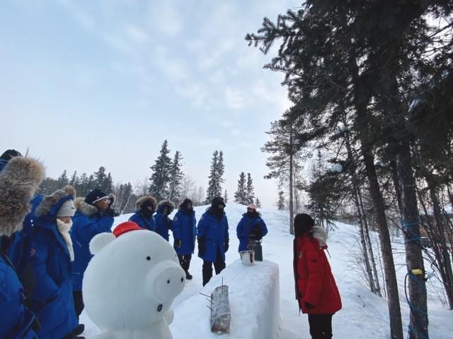 画像: ビレッジ内で開催される極寒実験/弊社スタッフ和田撮影