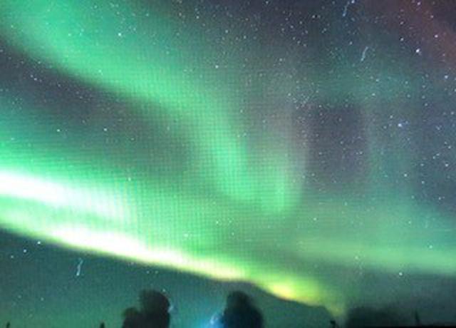 画像: オーロラビレッジ上空に現れた神秘的なオーロラ③/お客様撮影