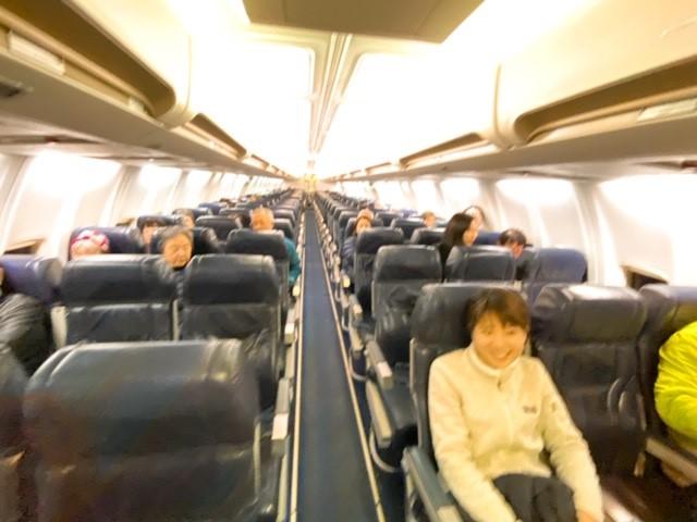画像: 機内はクラブツーリズムのお客様だけ!/弊社スタッフ和田撮影