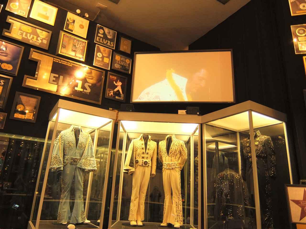 画像: エルヴィスの着用した衣装やレコードなどの展示(イメージ)