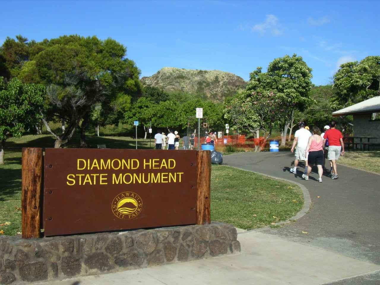 画像: ダイヤモンドヘッドハイキング登山口/イメージ