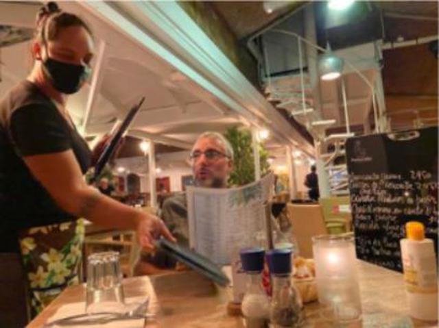 画像: 営業再開したレストラン(5月末撮影)