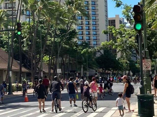 画像: カラカウア・オープン・ストリートの様子(6月14日撮影)
