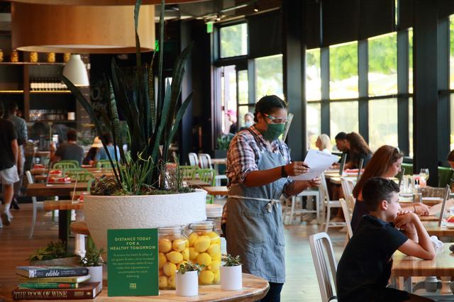 画像2: サンタモニカ・レストランの様子/現地スタッフ撮影(6月14日撮影)