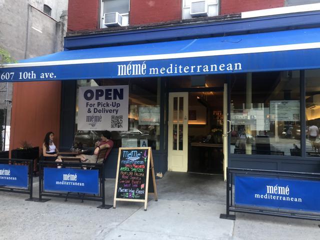 画像: タイムズスクエア付近のレストラン/現地在住者撮影(6/24投稿) 屋内での飲食はまだ出来ませんが、テラスでの飲食が許可されるようになりました。