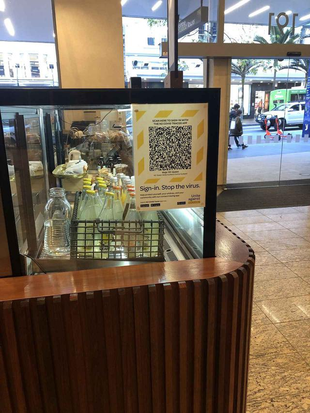 画像: レストランのQRコード(7月3日 現地スタッフ撮影)