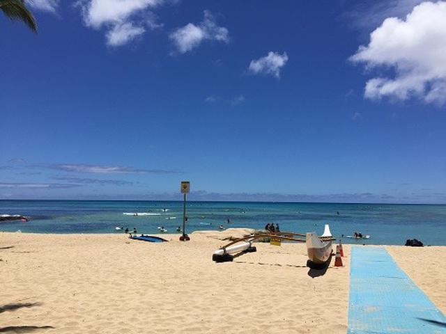 画像: ワイキキビーチの様子(いずれの写真も8月19日現地スタッフ撮影)
