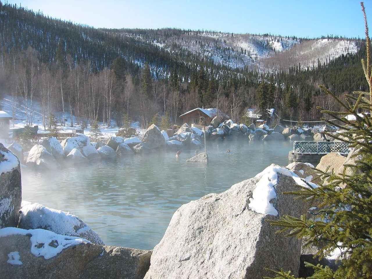 画像: 雪化粧のチェナ温泉(イメージ)