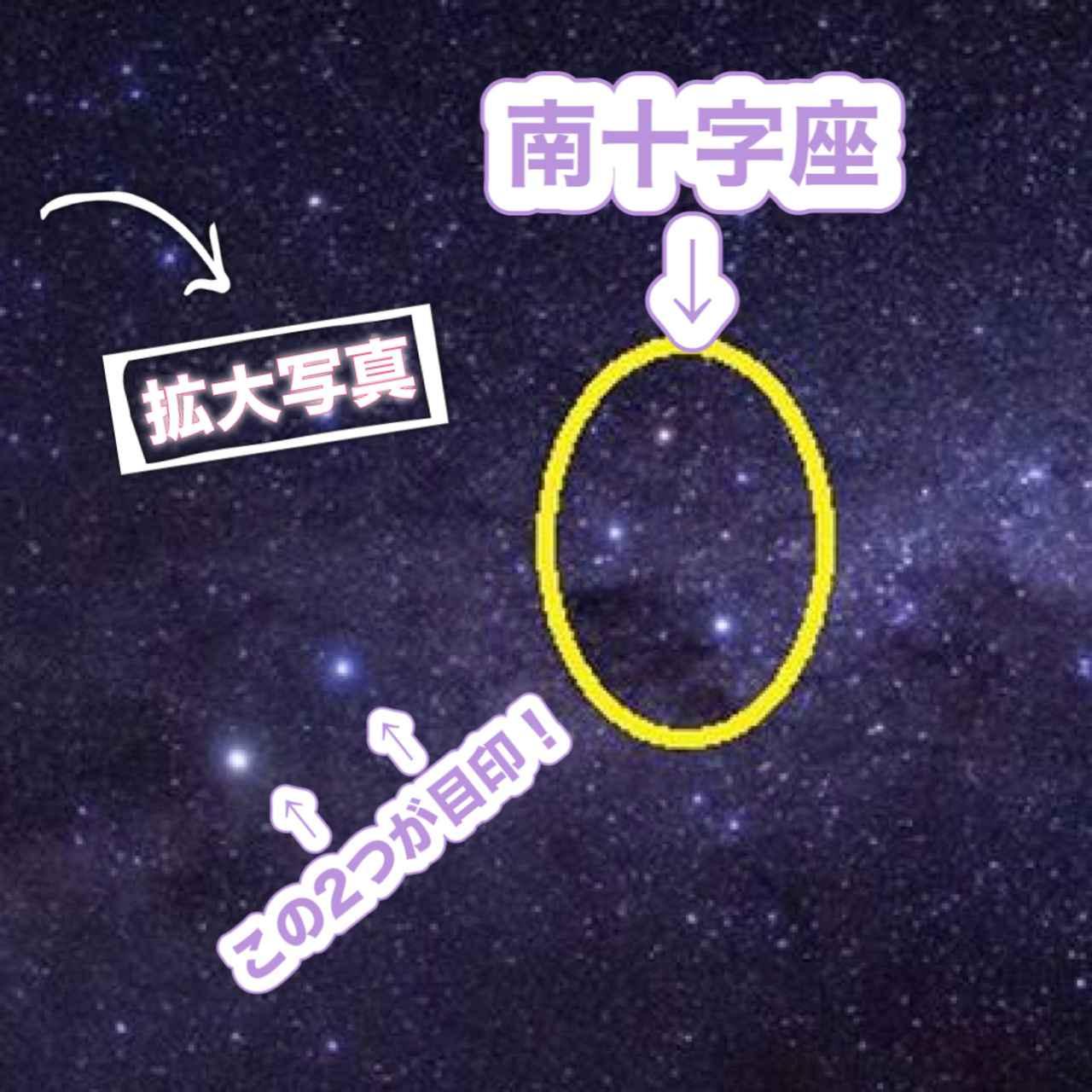 画像: 【正解はコチラ!】南十字座(南十字星) ©2021 Hide Ozawa All Rights Reserved