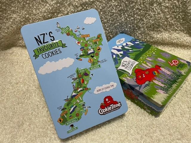 画像: ニュージーランドの地図や景勝地をイメージした限定缶も人気(スタッフ撮影)