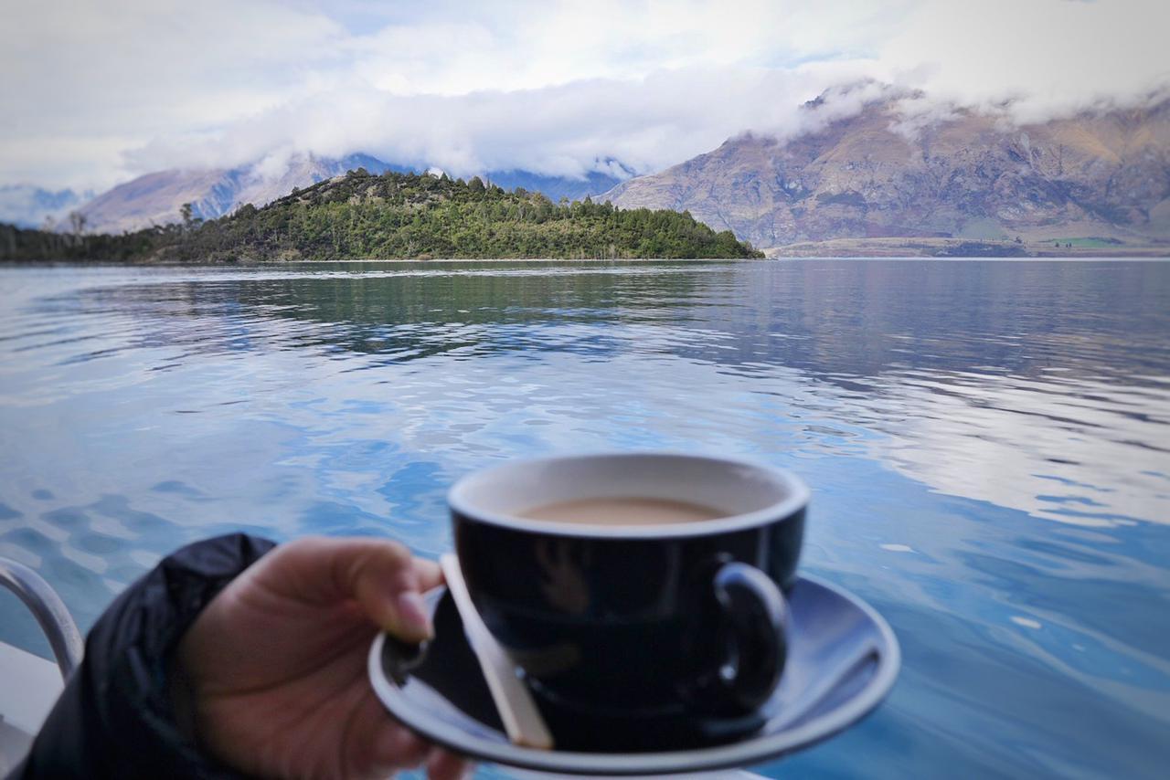 画像: 絶景を見ながらのコーヒータイム。至福の時間です(スタッフ撮影)