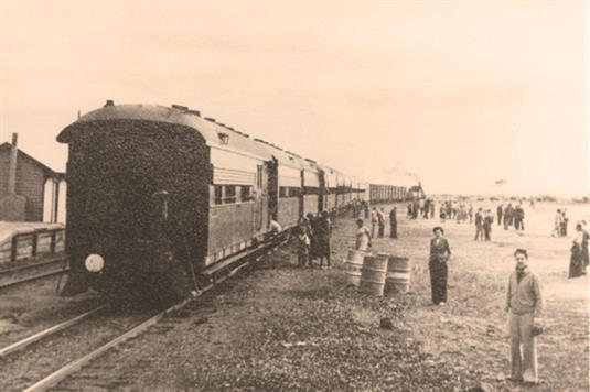 画像: 当時の様子(列車内の展示物より/イメージ)