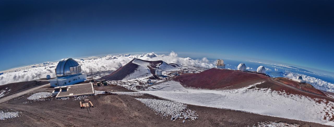 画像: マウナケア天文台群(イメージ)