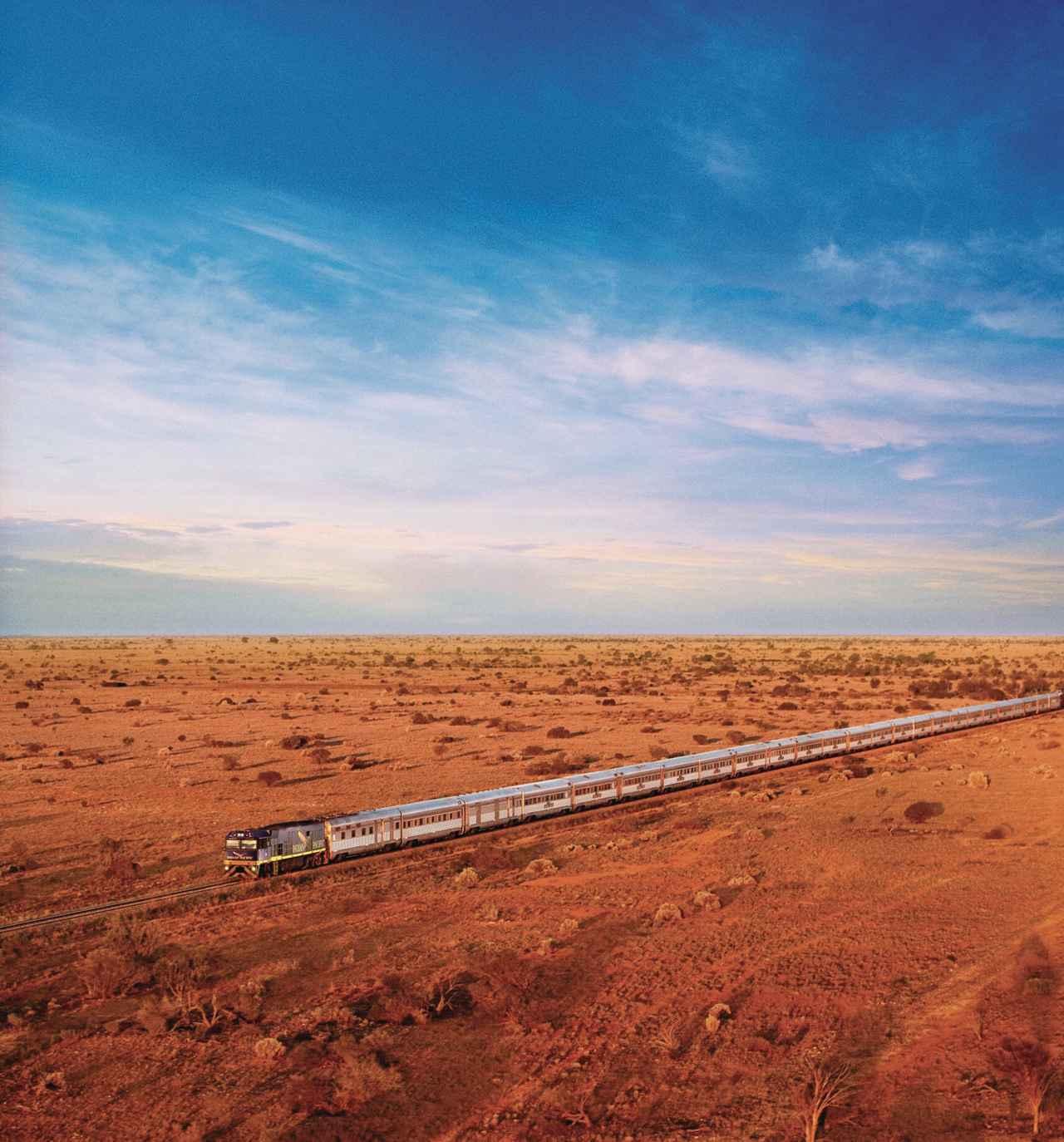 画像: オーストラリア大陸横断鉄道インディアン・パシフィック号(©️Journey Beyond)