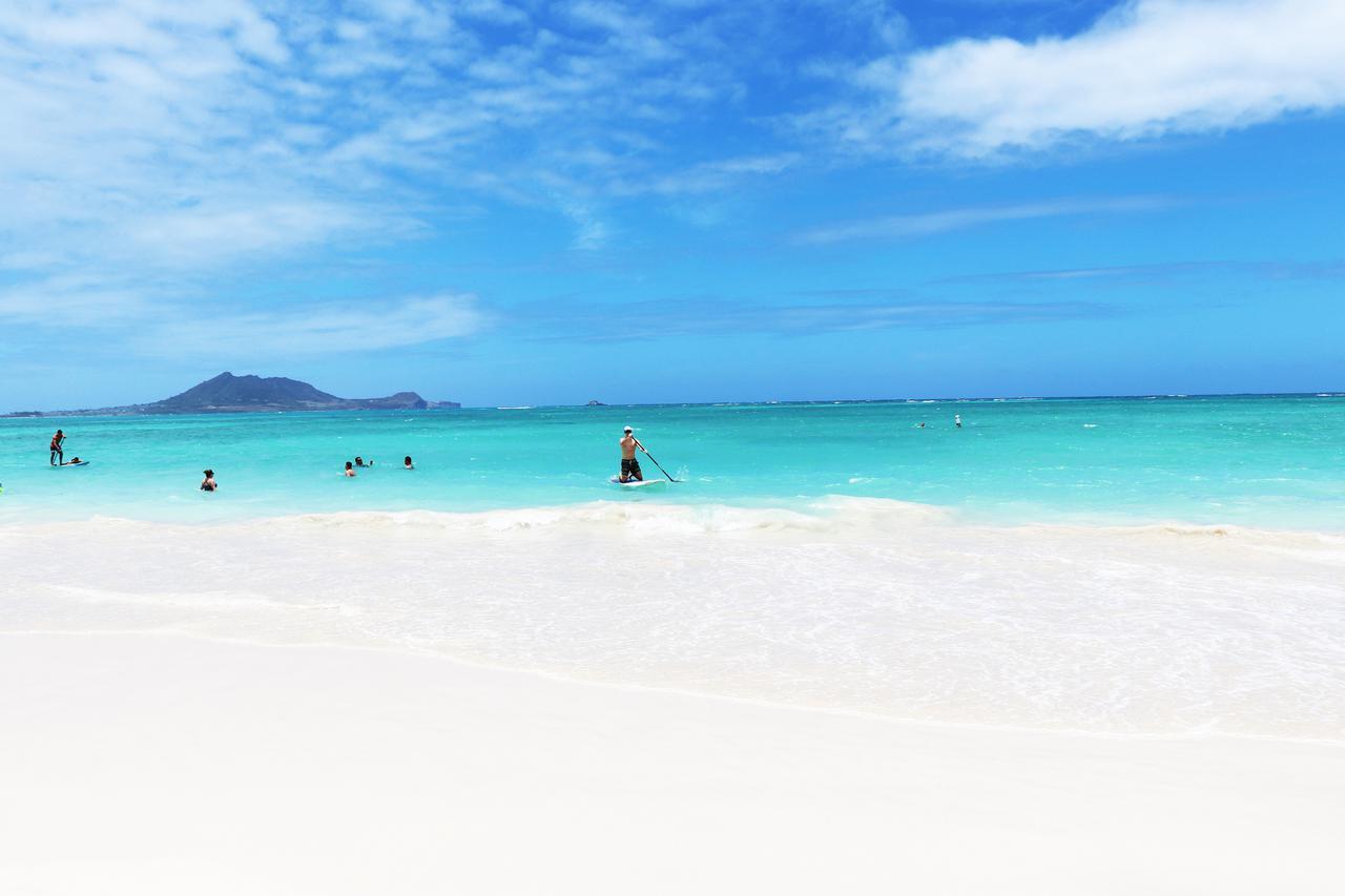 画像: 全米No1にも選ばれたカイルアビーチ 白砂と青空がもたらす息をのむほど美しいアクアブルーの海 (撮影:YUKO)