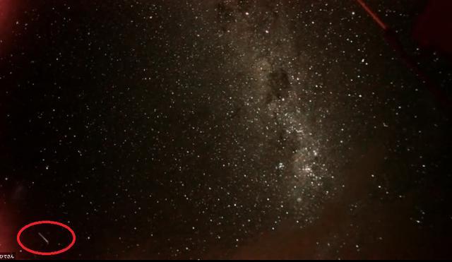 画像: 「流れ星」のスクリーンショット(うまく映るまで、20回くらい撮りました・(笑))
