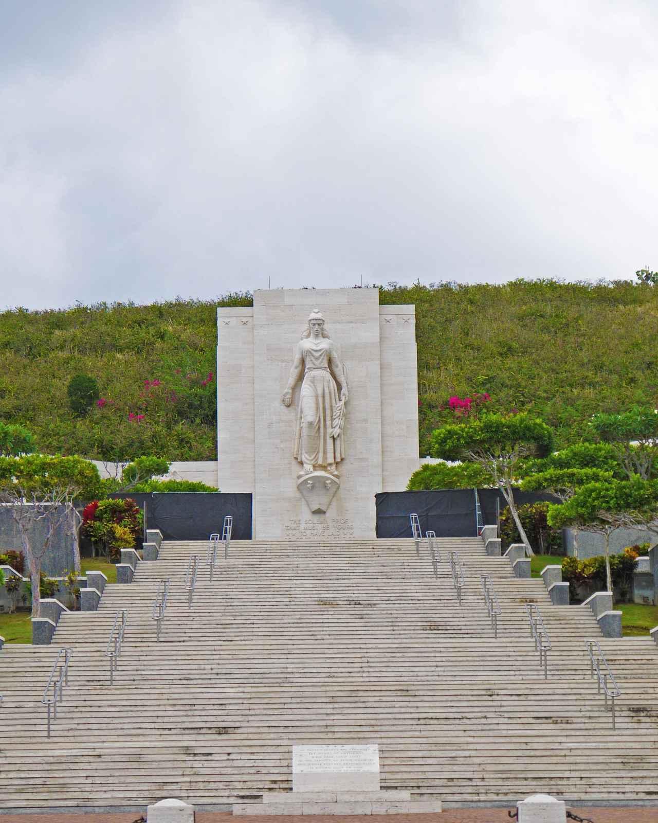 画像: 現在イノウエ議員が眠るハワイの国立太平洋記念墓地 2度目の追悼式もここで行われオバマ大統領も出席