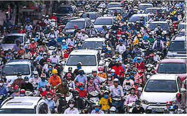 画像: ハノイ市内の名物渋滞も元通り・・・(現地スタッフ撮影)