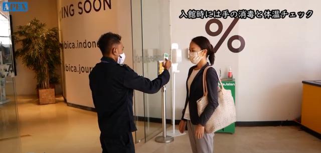 画像: 商業施設入口において検温と手洗い消毒が義務付けられています 現地手配会社「APEX」提供(7月6日撮影)