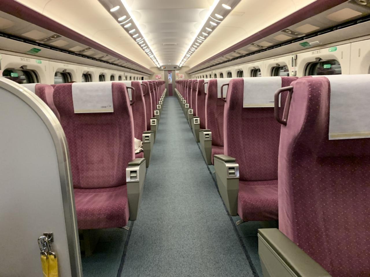 画像: 台湾新幹線・商務席(日本のグリーン車)/現地旅行会社スタッフ撮影