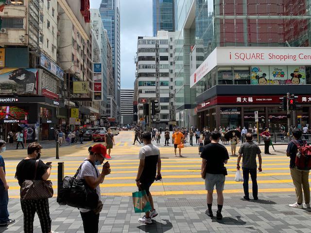 画像: 8月下旬の香港の中心部・チムサーチョイの様子/現地旅行会社スタッフ撮影