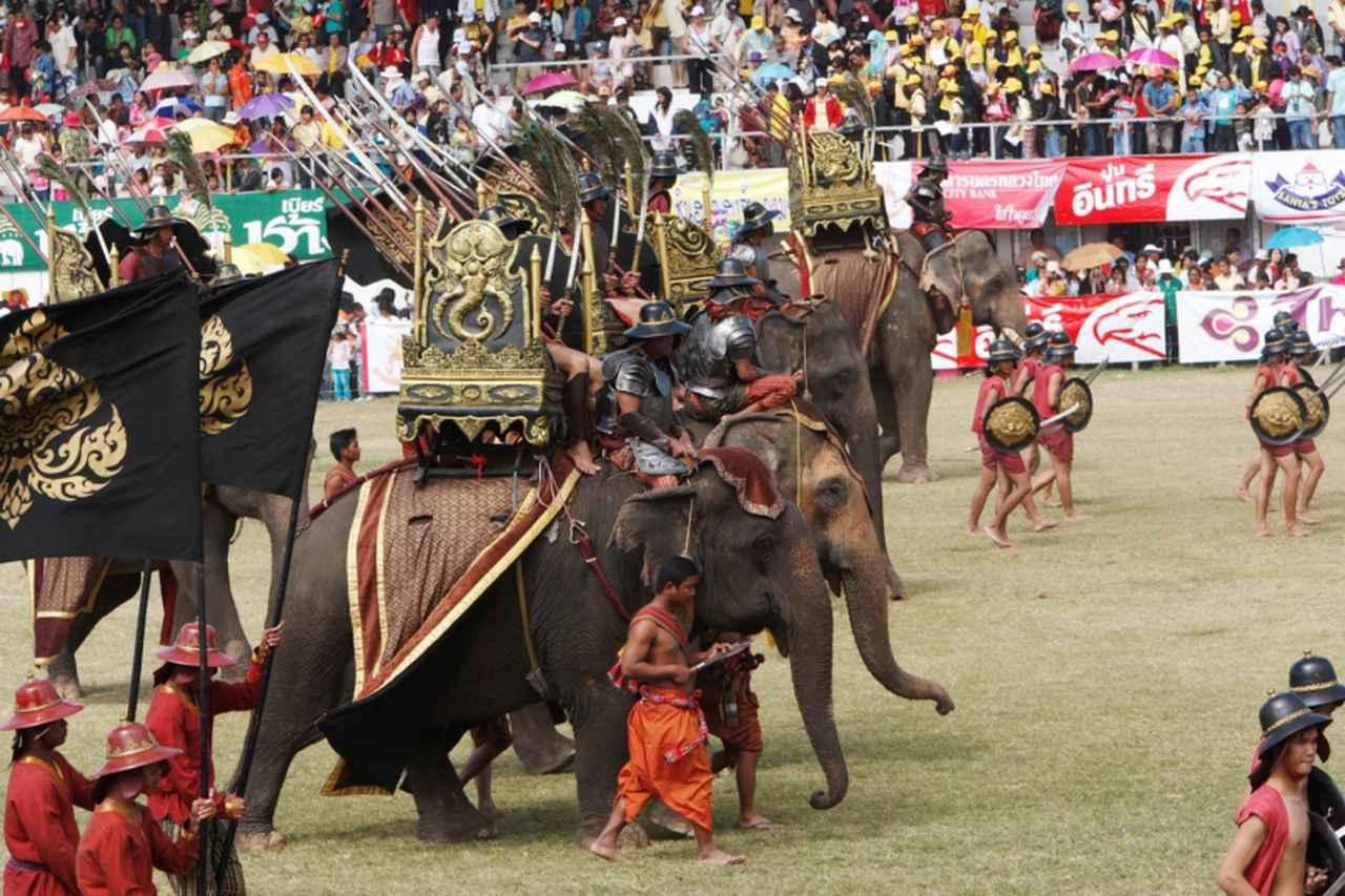 画像: スリン象祭り(写真提供:タイ国政府観光庁)