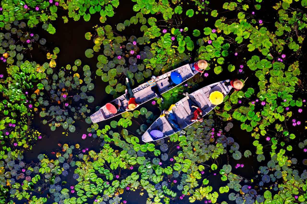 画像: レッドロータス水上マーケット(写真提供:タイ国政府観光庁)