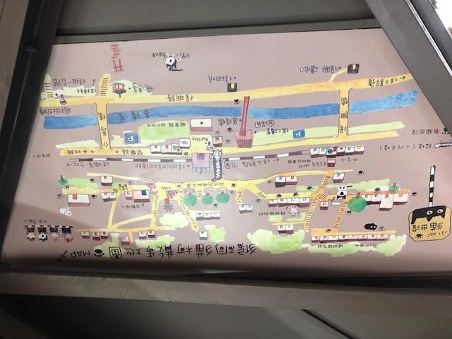 画像: 猫村の地図/水野撮影