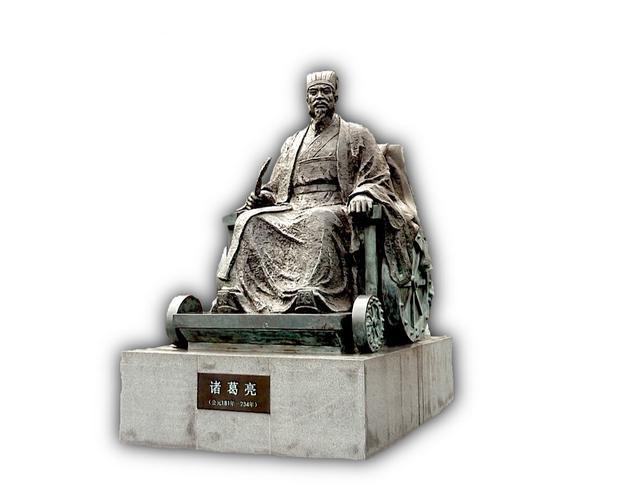 画像: 諸葛孔明像(四川省・綿陽付近)(弊社スタッフ撮影)