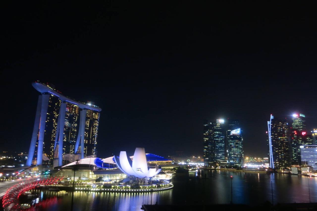 画像: 近代都市シンガポールを代表するマリーナベイサンズ(スタッフ撮影)