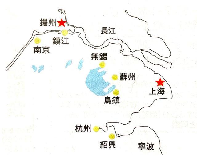 画像: 長江デルタ地域マップ(イメージ)