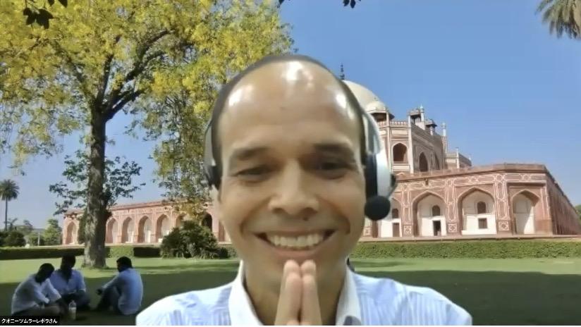 画像: 弊社パートナー・クオニイツムラーレのインド人スタッフ ボラさん