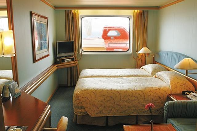 画像: Kステート客室 ※救命ボート設置のため、眺望が遮られます(イメージ/一例)