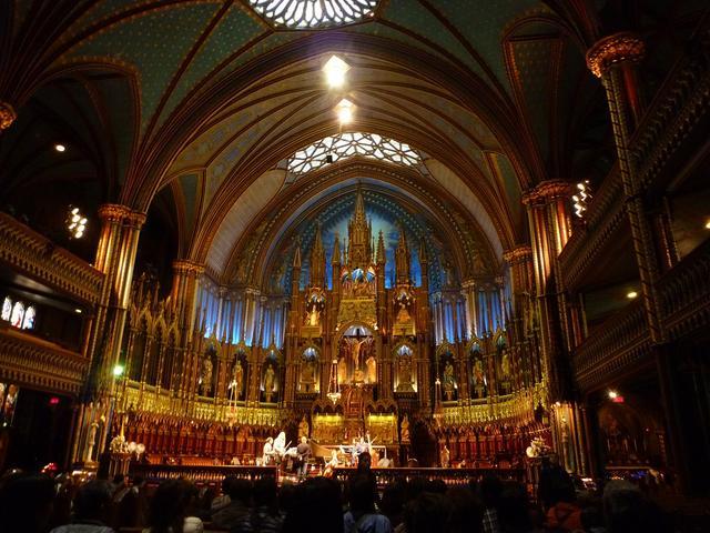 画像: モントリオール ノートルダム大聖堂