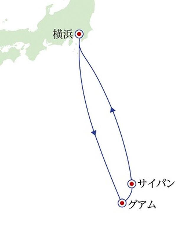 画像: 航路図(イメージ)