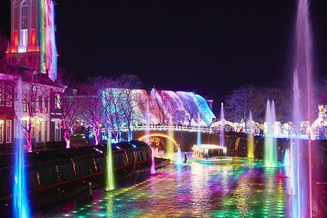 画像: ハウステンボス・光と噴水の運河(イメージ)