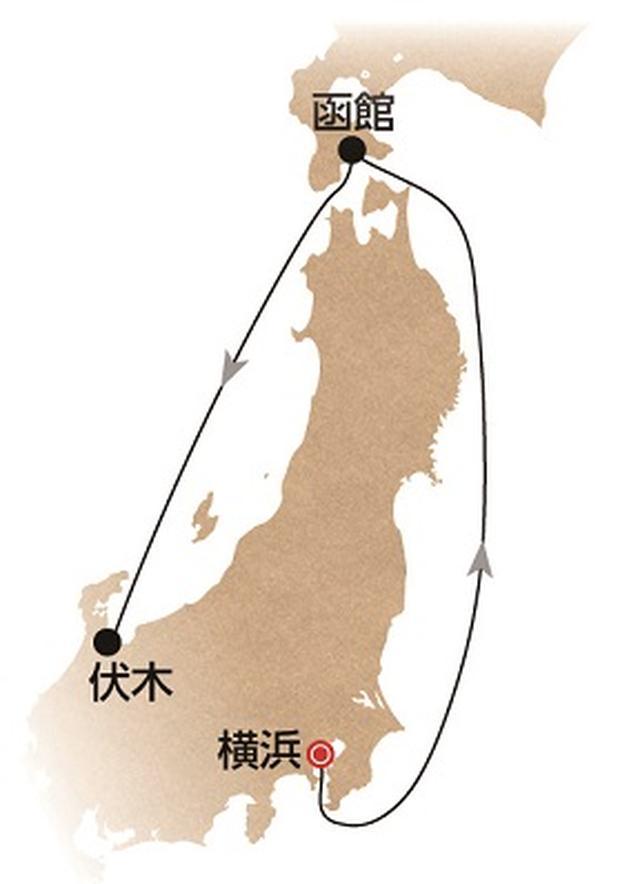 画像: 航路図(イメージ/天候により変更となる場合がございます)