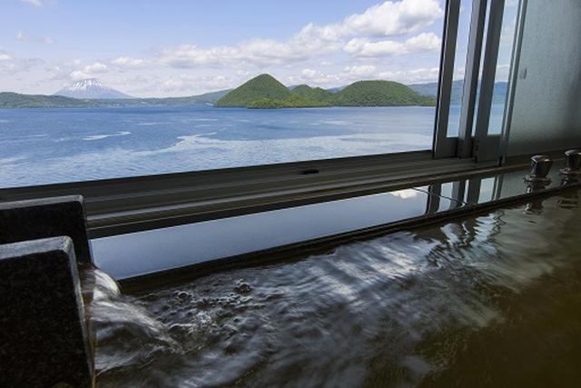 画像: 乃の風リゾート 羊蹄山の雄姿と洞爺湖を望む絶景の大浴場(イメージ)