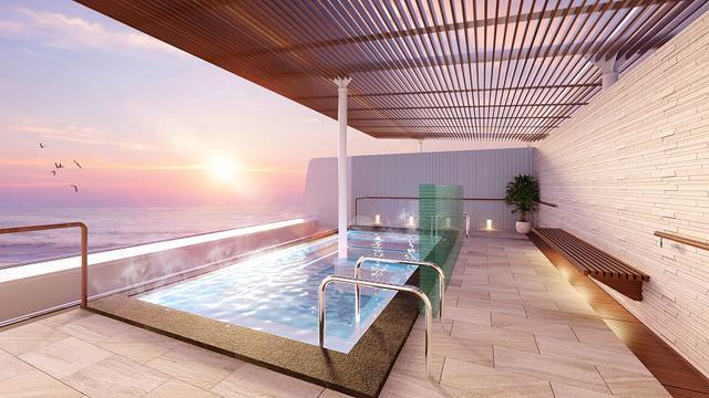 画像: グランドスパ 露天風呂 ※改装に伴い、ウィンブルドンコートは廃止となります ※露天風呂は停泊時および航路上の都合や天候、運用上等の理由により営業時間が限られます