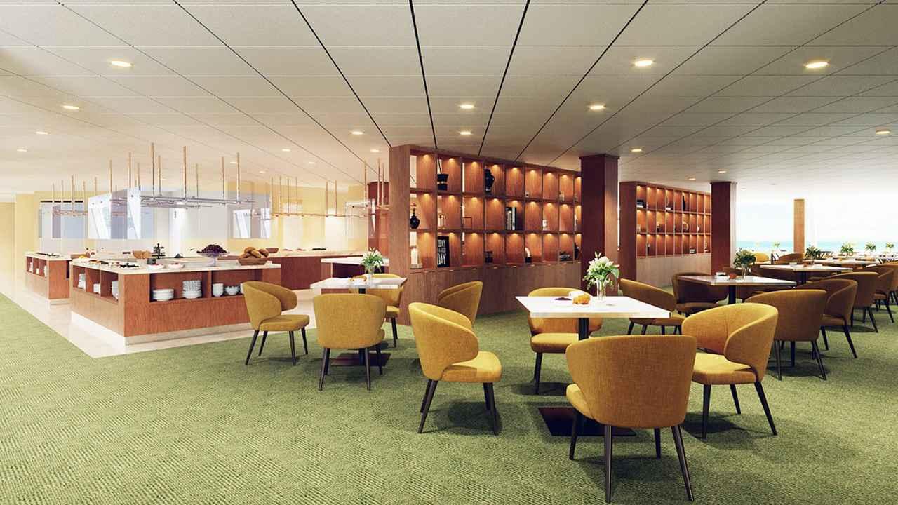画像: リドガーデン ビュッフェカウンターがアイランド型となるほか、お2人用の席も増設