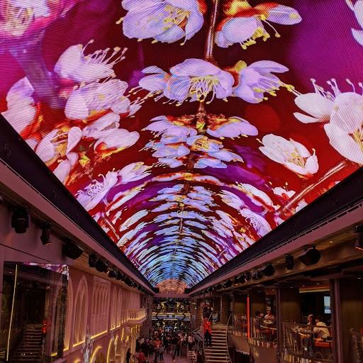 画像: ガレリアの天井LEDでは様々なテーマでショーが行われます
